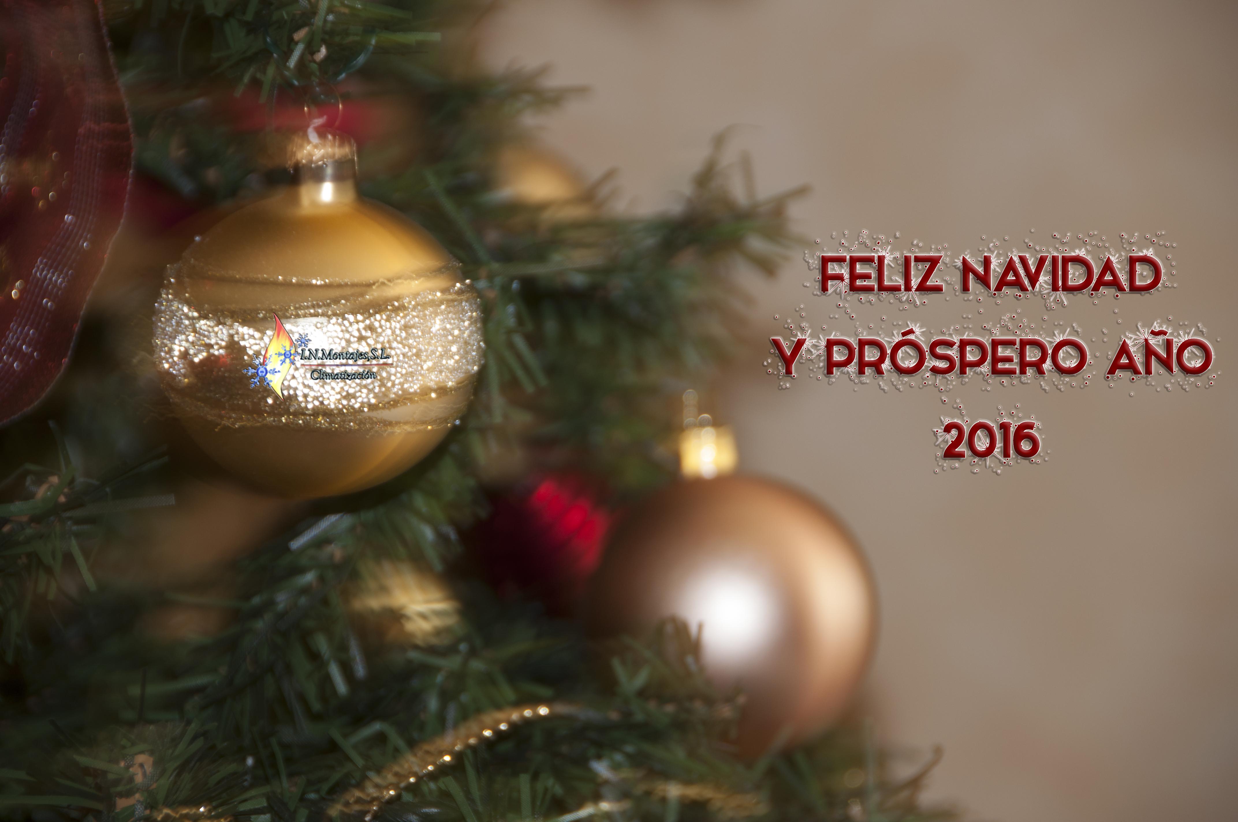I.N. Montajes os desea Feliz Navidad y próspero año 2016